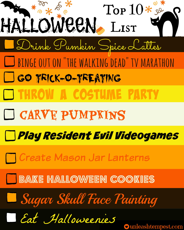 Halloween UTT Top 10 List (filled)