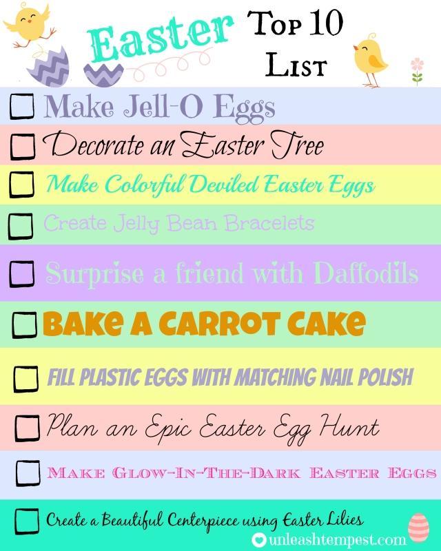 Easter UTT Top 10 List (written)